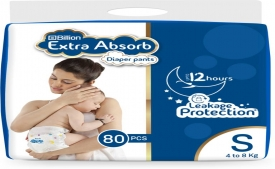 Get Upto 60% OFF on Billion Extra Absorb Diaper Pants, Extra Buy More Save More and Get Extra 10% Discount