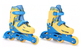 Buy Minion 2IN1 INLINE ADJUSTABLE ROLLER SKATE EXTRA SMALL SIZE (Blue, Yellow) at Rs 675 only from Flipkart