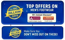 Flipkart Big Billion Days Shoes Offers: Register Now and get Branded Nike, ADIDAS, Puma & more shoes just under Rs 999 only