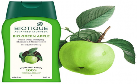 Buy Biotique Bio Green Apple Fresh Daily Purifying Shampoo And Conditioner, 200ml at Rs 82 from Amazon