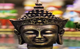 Buy Craft Junction HandCrafted Antique Finish Crown Buddha Head Decorative Showpiece - 18 cm (Polyresin, Multicolor) at Rs 529 only from Flipkart