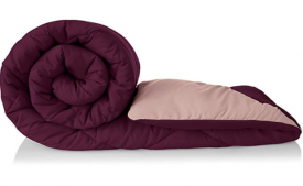 Buy Amazon Brand - Solimo Microfibre Reversible Comforter, Single (Plum Purple and Moody Mauve, 200 GSM) at Rs 899 from Amazon