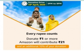 COVID-19 Corona PM Cares Donation Offers: Donate Rs 1 or more and Amazon will Donate Rs 51 Extra + Extra 10% of Donation Amount