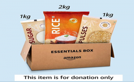 Amazon Essentials Food Box Donation- Provides for 20 meals – Delivered to Akshaya Patra
