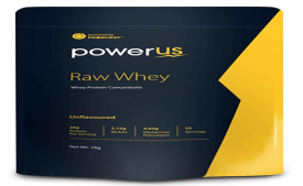Buy Powerus Raw Whey Protein Powder 1Kg | 80% Concentrate Whey | 33 Servings | 24 gm Protein, 5.1 gms BCAA and 4 gms Glutamine Per Serving - Unflavoured at Rs 949 from Amazon