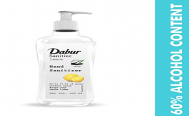 Buy Dabur Hand Sanitizer online price Rs 90, 60% Alcohol Based Sanitizer from Flipkart