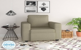 Flipkart Perfect Homes Canterbury Fabric 1 Seater Sofa at 63% Discount @ Rs 5,490 only