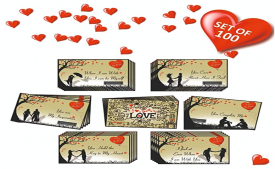 Buy 100 Romantic Cards Why I Love You with Reasons @ Rs 349 only, Ideal for Valentine Day, Husband/Wife/Girlfriend/Boyfriend Birthday and Marriage Anniversary Gift