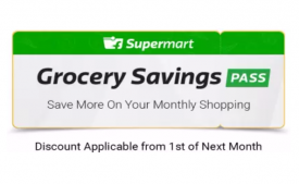 Flipkart Grocery Savings Pass Offer- Flat Rs 100 OFF for 3 Months, 3 Months Grocery Pass at Rs 1 only