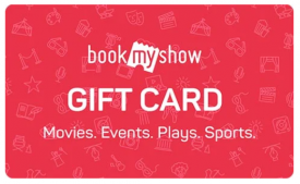 BookMyShow Offers: Flat 25% OFF on Bookmyshow Gift Vouchers