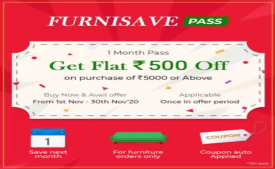 Flipkart Furniture Sale Offers: Buy Furnisave Pass at Rs 49 and get Rs 500 OFF on Shopping Furniture worth Rs 5000 or more