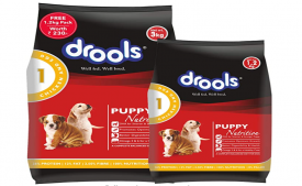 Buy Drools Chicken and Egg Puppy Dog Food (3 kg + 1.2 kg Free)from Amazon at Rs 629