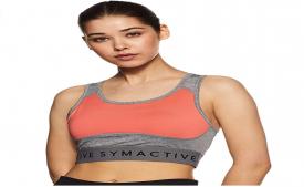 Buy Amazon Brand- Symactive Women's Full Cup Sports Bra upto 80% OFF from Amazon