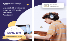 Amazon Academy IIT JEE All India Scholarship Test Series (AIMT) by Amazon: Prepare for the Amazon Academy IIT JEE Scholarship Test and win Reward upto Rs 5000