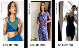 Zivame Flash Sale- Buy 2 Get 1 Free on All Activewear, Nightwear & Shapewears