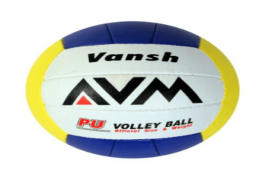 Buy AVM Vansh PU Volley Ball (Yellow/Orange/Blue) at Rs 380 Only