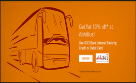 AbhiBus Coupons & Offers - Flat 15% Off On Ticket Booking + Extra Rs 150 OFF May 2018