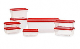 Buy All Time Plastics Polka Container Set, Set of 8, Red at Rs 128 Only