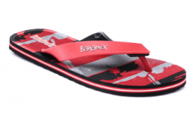 Buy Bahamas Red Black Flip Flops At Rs 235 Only From Snapdeal