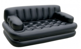 Buy KSC Airsofa cum Bed PVC 3 Seater Inflatable Sofa (Color - Black) At Rs 2,199 Only