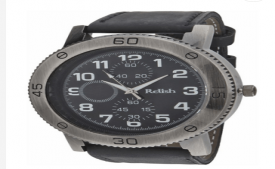 Buy Relish Black Leather Casual Analog Watch For Men at Rs 225 Only