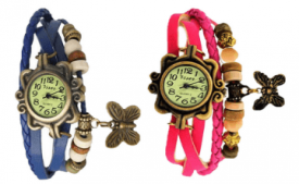 Buy Analog Watch Multicolor - Pack of 2 At Rs 319 Only