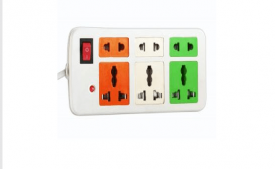 Buy Coloured Power Strip Extension Cord 3 + 3 At Rs 55 Only