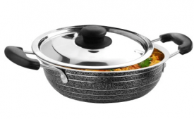 Buy CookAid Stainless Steel with Lid Kadhai 1.2 L from Flipkart at Rs 229 Only