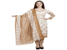 Buy Divyaemporio Women's Cotton Unstitched Salwar Suit Set at Rs 389 Only