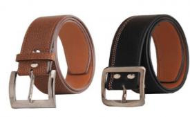 Buy Elligator Multicolour Casual Belt For Men Pack Of 2 at Rs 200 Only