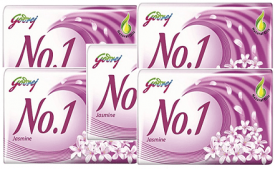 Buy Godrej No.1 Jasmine Soap, 100g (Buy 3 Get 2 Free) At Rs 68 Only From Amazon