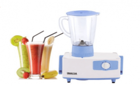 Buy Inalsa Fusion 550-Watt Mixer Grinder with 2 Jar (White/Light Purple) at Rs 1,299 From Amazon