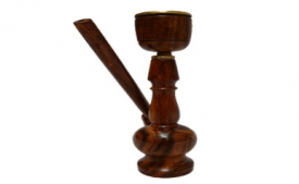 Buy JaipurCrafts Decorative Premium 5 inch Wooden Hookah Brown at Rs 149 Only