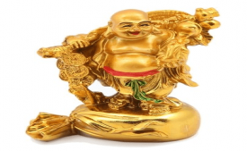Buy JaipurCrafts Laughing Buddha With Coins Showpiece at Rs 199 Only