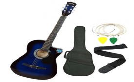 Buy Jixing Blue Acoustic Guitar with Bag, Strings, Pick and Strap at Rs 2,749 Only