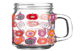 Buy Kilner Glass Handle Jar, 400ml, Multicolour at Rs 328 Only