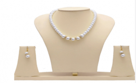 Buy Manukunj Pearl Single Line Necklace Set at Rs 169 Only