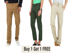 Buy Men's Branded Trousers From LimeRoad + Buy 1 Get 1 FREE