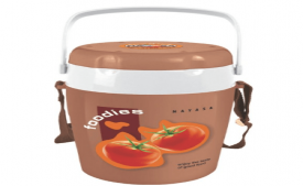 Buy Nayasa Plastic Tiffin Foodies, 4-Pieces, Brown at Rs 558 Only From Amazon