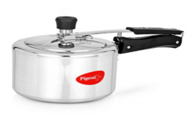 Buy Pigeon Inner Lid Aluminum Pressure Cooker 3 Litres,  Silver at Rs 449 Only