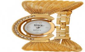 Buy Prince Fashion Golden Round Dial Metal Strap Analog Watch at Rs 155 Only