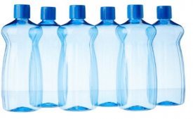 Buy Princeware Aster Pet Fridge Bottle Set, 975ml, Set of 6, Blue at Rs 164 Only