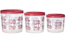 Buy Princeware Twister Package Container (Set of 3) Pink at Rs 228 Only
