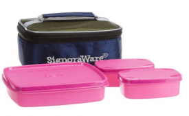 Buy Signoraware Hot N Cute Lunch Box with Bag, Pink at Rs 259 Only