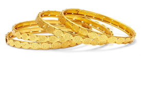 Buy Sukkhi Golden Bangle Set of 4 at Rs 199 Only