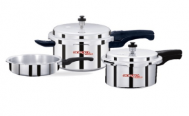 Buy Surya Accent Pressure Cooker pack 5 L, 3 L, 2 L @ Rs 999 Only From Shopclues