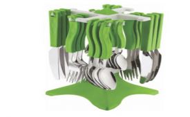 Buy Tosmy Swastic Cutlery Set, Color may vary at Rs 445 Only