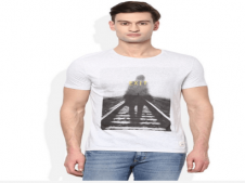 Buy United Colors of Benetton White Round Neck T Shirt at Rs 449 Only