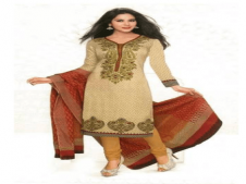 Buy Vaamsi Beige Unstitched Dress Material at Rs 189 Only