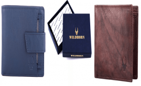 Buy WildHorn Brown Men's Wallet (WH2052 Crackle) just at Rs 299 only from Amazon